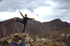 Rock Climbing Photo: Claire Carren graces the summit, 8/13/77. Audubon ...