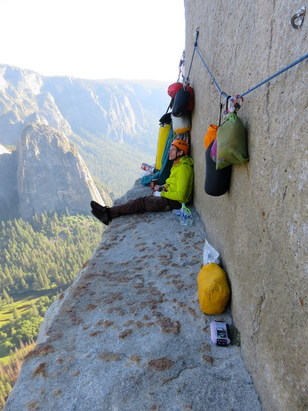 Rock Climbing Photo: El Cap Tower bivy.