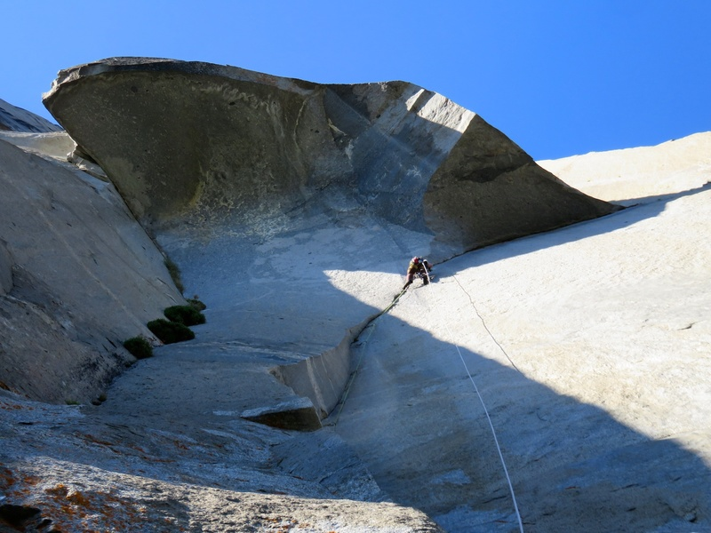 Rock Climbing Photo: The Great Roof pitch.