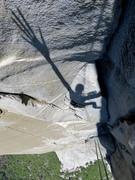 Rock Climbing Photo: Shadow fun on Changing Corners pitch. Amazing clim...
