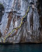 Rock Climbing Photo: Fernando stemming on Eyes Wide Apart