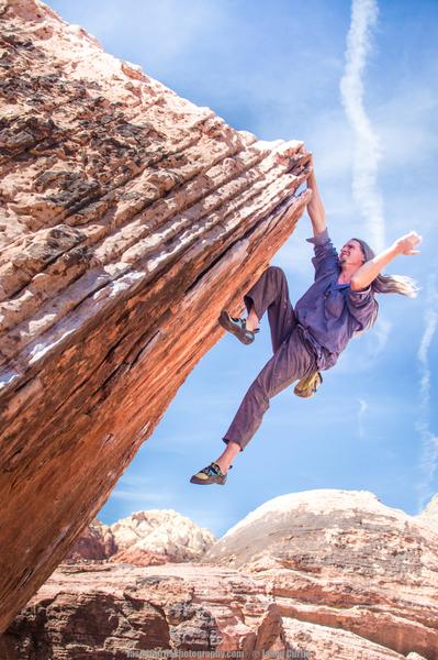 Rock Climbing Photo: Rob Wulff styling Poker Chips