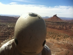 Rock Climbing Photo: utah, w/ six shooter in distance, 2013