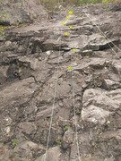 Rock Climbing Photo: Left rope: Sobriety route. The rope in the pic onl...