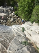 Rock Climbing Photo: View from chains at waterfall