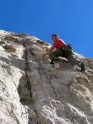 Rock Climbing Photo: Brian Cabe on FA of Touch of Gray 25 October 2003