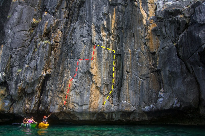 Rock Climbing Photo: Tastier Than Lechon (red) and Bananacue (yellow)