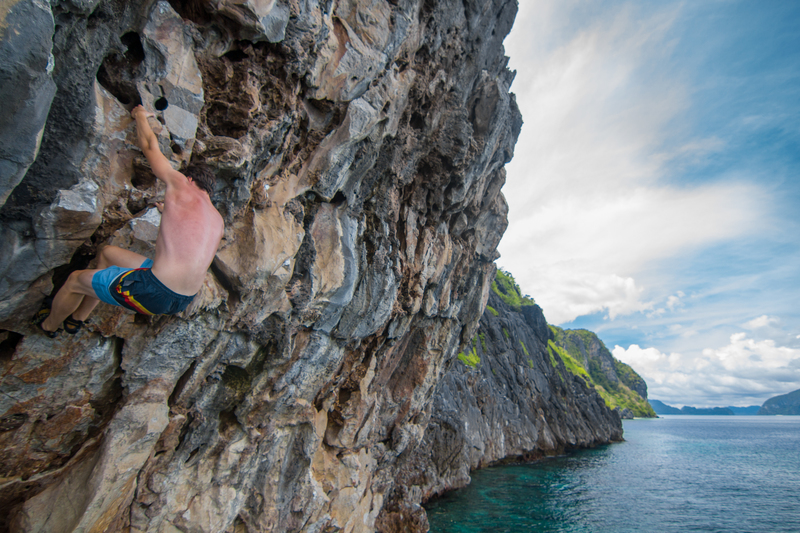 Rock Climbing Photo: Will on Captain Jerry