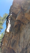 Rock Climbing Photo: Diana Rogers pulling the second roof out of the do...