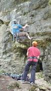 Rock Climbing Photo: Steve climbing up Super Dad's (5.10b)