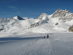 Rock Climbing Photo: Grosser Aletschgletscher looking over at the Jungf...