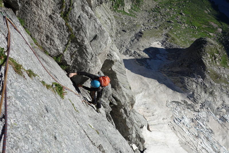 Rock Climbing Photo: Via Cassin, Piz Badile somewhere in the middle.