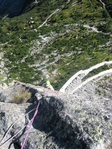 High up on Via Felici