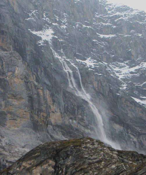 Avalanche on the Eiger Nordwand