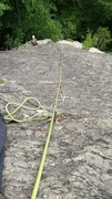 Rock Climbing Photo: Looking down from the p1 anchors