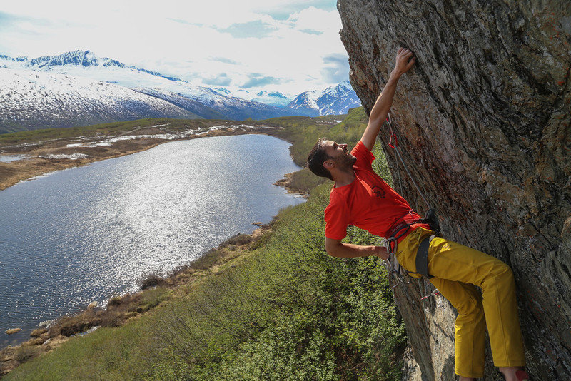 Rock Climbing Photo: Kelsey Gray snapping a great shot at Blueberry Lak...