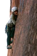 "Rock Climbing Photo: Jess Kilroy leading ""Mouse Meat"" 5.10+"
