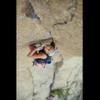"Jess Kilroy leading ""Mr. Clean"" 5.11, Devils Tower, WY Photo: Michael Clark"