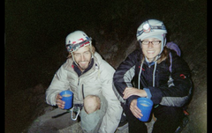 Rock Climbing Photo: Pat Kingsbury and Jessica Kilroy drinking victory ...