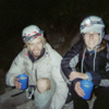 "Pat Kingsbury and Jessica Kilroy drinking victory coffee from Frank after completing the FA of the last few pitches of Frank's 1989 route, ""Blotter is my Spotter"", Devils Tower, WY. Photo: Frank Sanders"