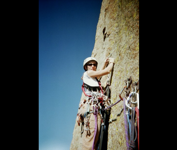 "Rock Climbing Photo: Jess Kilroy leading the First Ascent of ""Late..."