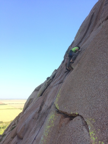 Rock Climbing Photo: Standing on flakes