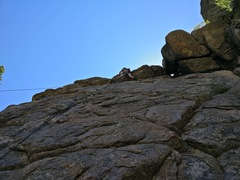 Rock Climbing Photo: Me pulling the overhang.
