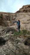 Rock Climbing Photo: Brian on the Ice Cream Crack.