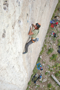 Rock Climbing Photo: Hayden getting ready for the big throw off some ba...
