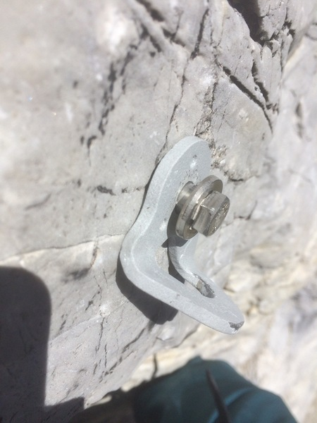 Rock Climbing Photo: One of a few bolts on pitch 1 that are unsavory