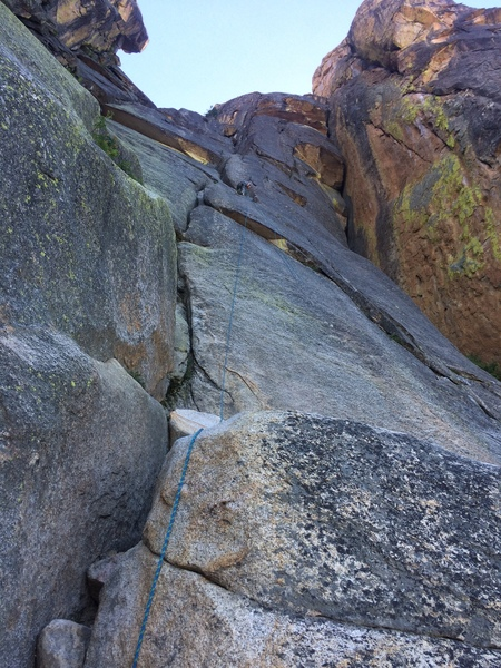 Route is along the crack