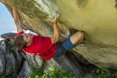 Rock Climbing Photo: Unknown Climber Bouldering near The Dungeon