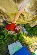Rock Climbing Photo: Climber on Boulder near The Dungeon