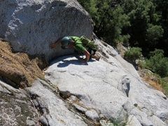 Rock Climbing Photo: 4th/low5th scramble to start of route.