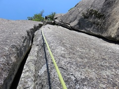 Rock Climbing Photo: The last part of Pitch 2.