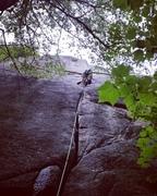 2/3 the way up. Amazing climb.