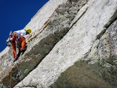 Rock Climbing Photo: Myles Moser leading P3
