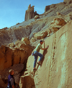 Rock Climbing Photo: Albert Newman on one of the thousands of V easy pr...