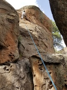 Rock Climbing Photo: A single #3 Camalot in the crack should suffice. T...