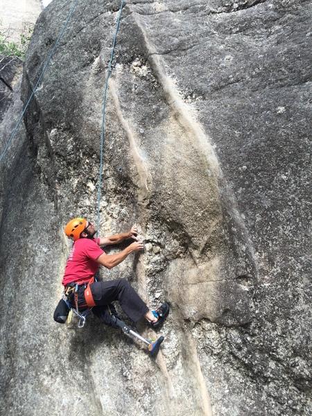 Rock Climbing Photo: Metal leg climbers