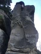 Rock Climbing Photo: far left side of boulder
