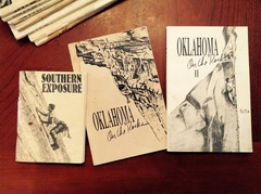 Three historically classic guidebooks from the golden days of climbing on The Refuge and Quartz Mountain.   Southern Exposure written by Duane Raleigh and Bill Thomas, was published in 1980.  Oklahoma On The Rocks written by Jon Frank and Jack Wurster, was published in 1986. Oklahoma On The Rocks II written by Jon Frank, Jack Wurster and Duane Raleigh, was published in 1989!  Great classics for anyone who can get your hands on them!