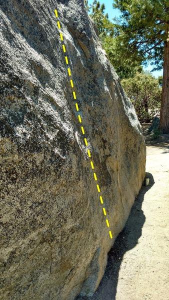 Follow the chalk through a reachy cruxy start with poor feet.