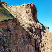 Rock Climbing Photo: Traversing on Dirty Pinkos