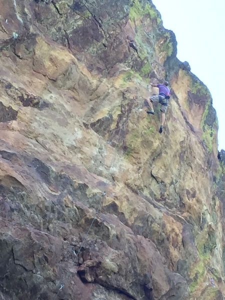 Rock Climbing Photo: It is 5.10 to the anchor.