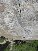 Rock Climbing Photo: Awesome splitter on Pitch 1.