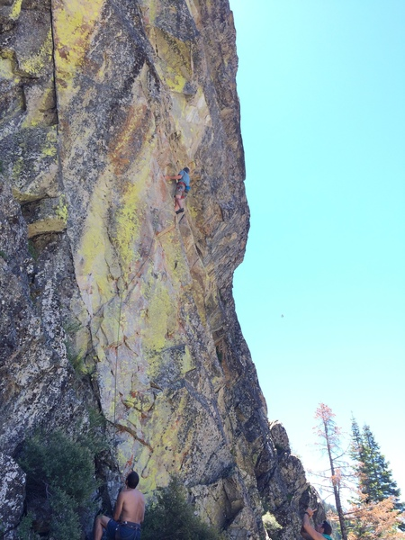 Rock Climbing Photo: Mike on Limelight. Quality Stone with great colors...