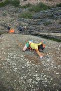 Rock Climbing Photo: Hayden Digging deep into the mono