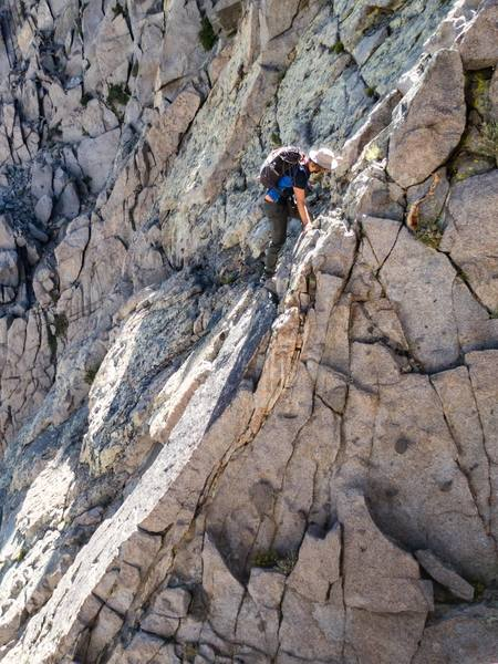 Rock Climbing Photo: one of many down climbs on the route.