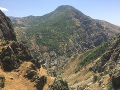 Rock Climbing Photo: Looking East from the site - down the gulley towar...